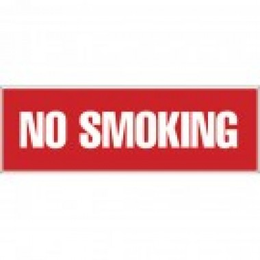 "3"" x 12"" No Smoking Decal. Safety decals from Vulcan Companies."