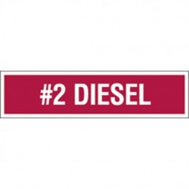 "3 X 12""  #2 Diesel Decal - Fire Red Reverse On White. DEF decals from Vulcan Companies."