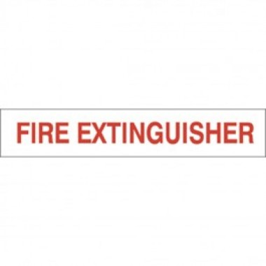 "2.5"" X 10"" Fire Extinguisher Decal S/F- Fire Red On White from Vulcan Companies."