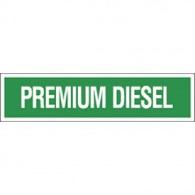 3 X 12 Decal - S/F- Emerald Green Reverse On White- Premium Diesel. Petroleum parts from Vulcan Companies.