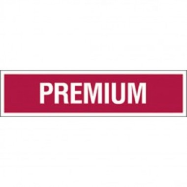 "3 X 12"" Decal-S/F- Fire Red Reverse On White - Premium. Petroleum parts from Vulcan Companies."