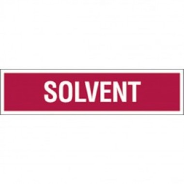 3 X 12 Decal-S/F- Fire Red Reverse On White - Solvent. Petroleum Parts from Vulcan Companies.