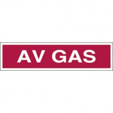 3 X 12 Decal -S/F-Fire Red Reverse On White - Avgas. Petroleum Parts from Vulcan Companies.