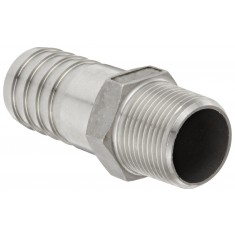 "Banjo HB100SS Stainless Steel 316 Hose Fitting, Adapter, 1"" NPT Male x 1"" Barbed"