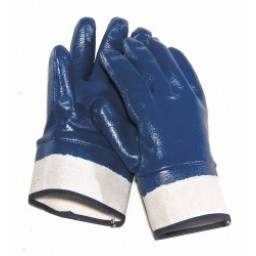 Nitrile Rubber Coated Smooth Finish Gloves with Safety Cuff. DEF Equipment from Vulcan Companies.