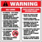 "6""X6""  Warning..Static Electricity Spark Explosion Hazard - Decal - Fire Red/Black On White. Safety Decals from Vulcan Companies."